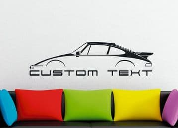 Large Custom car silhouette wall sticker - for Porsche 930 Turbo SLANT NOSE 911 | classic
