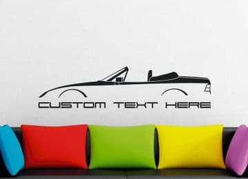 Large Custom car silhouette wall sticker - for Porsche 944 cabrio | 2.5 | 16v | Turbo classic