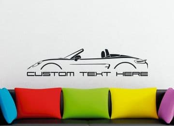 Large Custom car silhouette wall sticker - for Porsche Boxter 2012- (981)