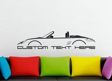 Large Custom car silhouette wall sticker - for Porsche Boxter 987