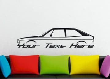Large Custom car silhouette wall sticker - for VW Scirocco Mk1 | classic sports car
