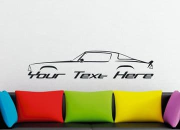 Large Custom muscle car silhouette wall sticker - for Chevrolet Camaro 1975-1981 (2nd gen) classic