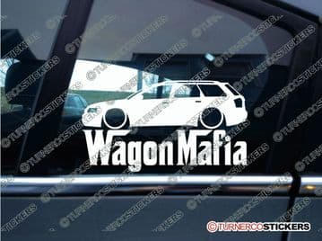 LOW Audi A4 B6 WAGON MAFIA ' Lowered car sticker , Decal