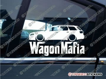 LOW Audi A4 B7 WAGON MAFIA ' Lowered car sticker , Decal