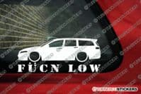 Low car silhouette's