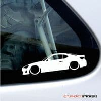 Lowered Toyota silhouette stickers