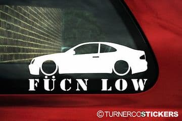 Mercedes W208 CLK 55 AMG 'Fucn low' sticker, Decal. For 230 kompressor,CLK 320,CLK 430