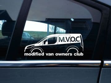 MVOC modified van owners club sticker for Ford Transit Connect van 2nd gen, mk2