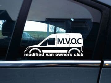 MVOC modified van owners club sticker for Ford Transit Connect van mk1 high roof