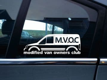 MVOC modified van owners club sticker for Ford Transit Connect van mk1 low roof