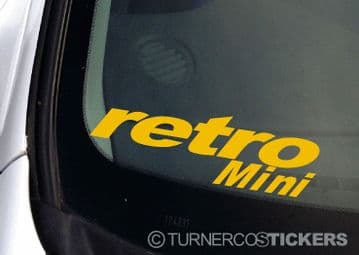 Retro Mini sticker / Decal For Classic morris. Austin Mini Cooper S / Clubman