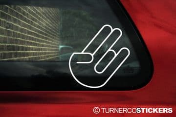 Shocker Hand sticker, Decal, rude hand, 2 in the pink 1 in the stink