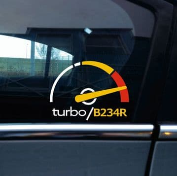 Turbo B234R, boost sticker / decal - for Saab 9000 Aero