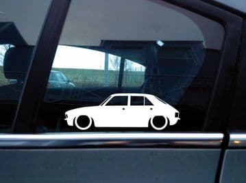 x2 Lowered car silhouette stickers for Austin Allegro 4-door | classic | L1017