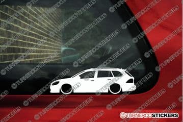 x2 Lowered car silhouette stickers - for VW Golf mk6 estate wagon 2008-2012 L56