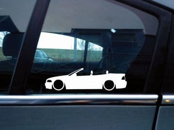 x2 Lowered car stickers for BMW E46 3-series convertible PRE-FACELIFT L213