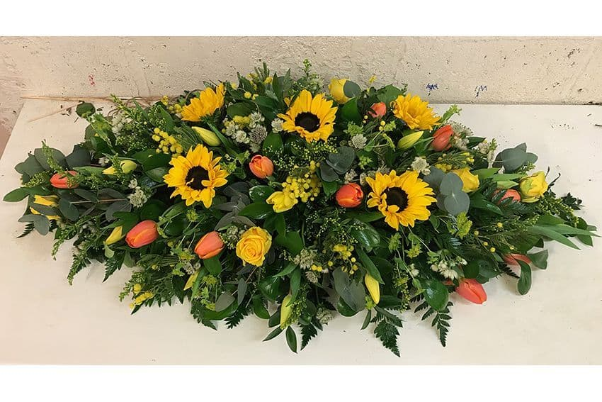 Country Style Coffin Spray by Paul J King Flowers Maldon