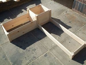 CORNER WOODEN TIMBER  RAISED PLANTER BED GROW YOUR OWN VEGETABLES & PLANTS